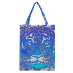 Background Fabric With Tiger Head Pattern Classic Tote Bag by Amaryn4rt