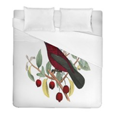 Bird On Branch Illustration Duvet Cover (full/ Double Size) by Amaryn4rt