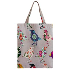 Birds Floral Pattern Wallpaper Zipper Classic Tote Bag by Amaryn4rt