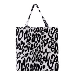 Black And White Leopard Skin Grocery Tote Bag by Amaryn4rt