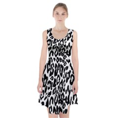 Black And White Leopard Skin Racerback Midi Dress by Amaryn4rt
