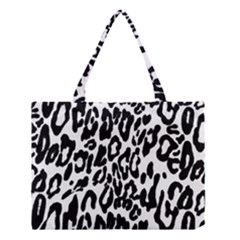 Black And White Leopard Skin Medium Tote Bag by Amaryn4rt