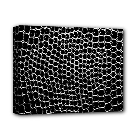 Black White Crocodile Background Deluxe Canvas 14  X 11  by Amaryn4rt