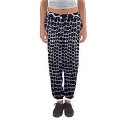 Black White Crocodile Background Women s Jogger Sweatpants by Amaryn4rt