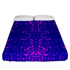 Blue And Pink Pixel Pattern Fitted Sheet (california King Size) by Amaryn4rt