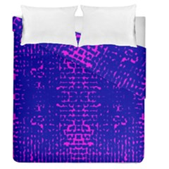 Blue And Pink Pixel Pattern Duvet Cover Double Side (queen Size)