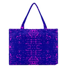 Blue And Pink Pixel Pattern Medium Tote Bag by Amaryn4rt