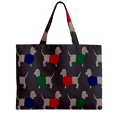 Cute Dachshund Dogs Wearing Jumpers Wallpaper Pattern Background Mini Tote Bag by Amaryn4rt