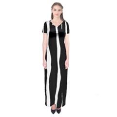 Zebra Background Pattern Short Sleeve Maxi Dress by Amaryn4rt
