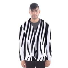 Seamless Zebra A Completely Zebra Skin Background Pattern Hooded Wind Breaker (men) by Amaryn4rt