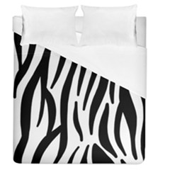 Seamless Zebra A Completely Zebra Skin Background Pattern Duvet Cover (queen Size) by Amaryn4rt