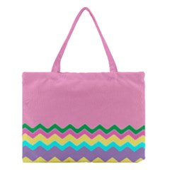 Easter Chevron Pattern Stripes Medium Tote Bag by Amaryn4rt