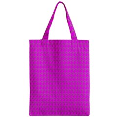 Clovers On Pink Zipper Classic Tote Bag by PhotoNOLA