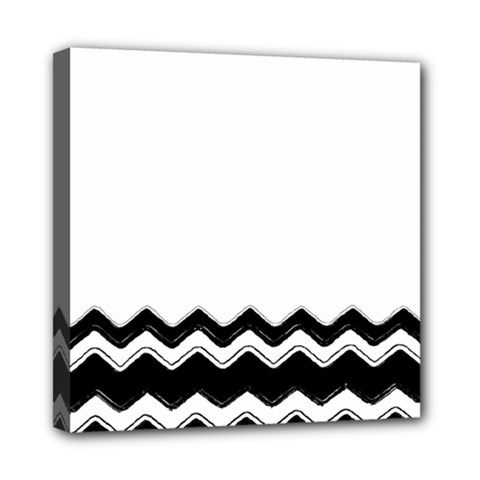Chevrons Black Pattern Background Mini Canvas 8  X 8  by Amaryn4rt