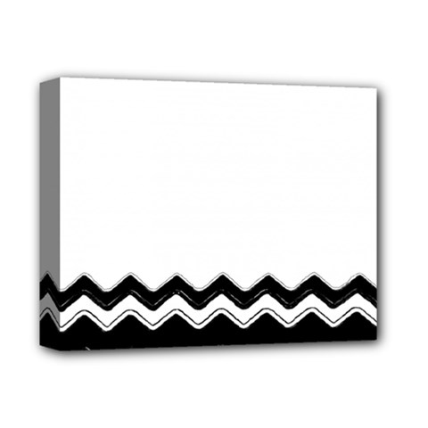 Chevrons Black Pattern Background Deluxe Canvas 14  X 11  by Amaryn4rt