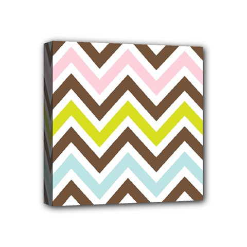 Chevrons Stripes Colors Background Mini Canvas 4  X 4  by Amaryn4rt