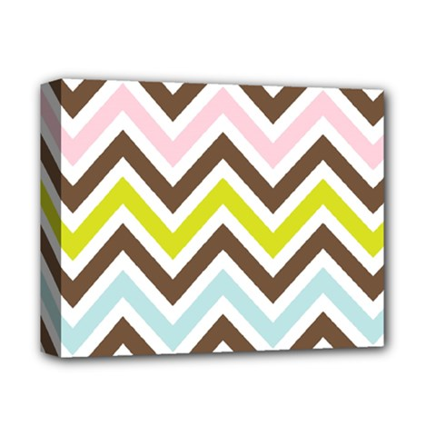 Chevrons Stripes Colors Background Deluxe Canvas 14  X 11  by Amaryn4rt