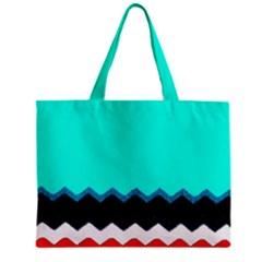 Pattern Digital Painting Lines Art Zipper Mini Tote Bag by Amaryn4rt