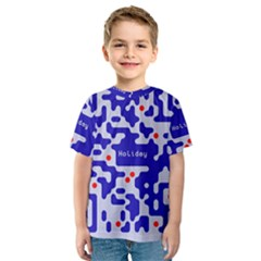 Digital Computer Graphic Qr Code Is Encrypted With The Inscription Kids  Sport Mesh Tee by Amaryn4rt
