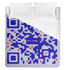 Digital Computer Graphic Qr Code Is Encrypted With The Inscription Duvet Cover (queen Size) by Amaryn4rt