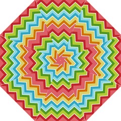 Colorful Background Of Chevrons Zigzag Pattern Hook Handle Umbrellas (large) by Amaryn4rt