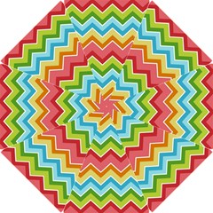 Colorful Background Of Chevrons Zigzag Pattern Hook Handle Umbrellas (small) by Amaryn4rt