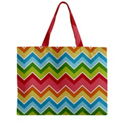 Colorful Background Of Chevrons Zigzag Pattern Zipper Mini Tote Bag by Amaryn4rt