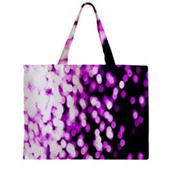 Bokeh Background In Purple Color Zipper Mini Tote Bag by Amaryn4rt