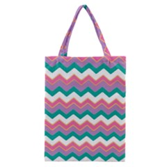 Chevron Pattern Colorful Art Classic Tote Bag by Amaryn4rt