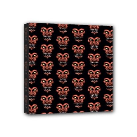 Dark Conversational Pattern Mini Canvas 4  X 4  by dflcprints
