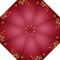 Red Background With A Pattern Straight Umbrellas by Amaryn4rt