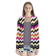 Colorful Chevron Pattern Stripes Cardigans by Amaryn4rt