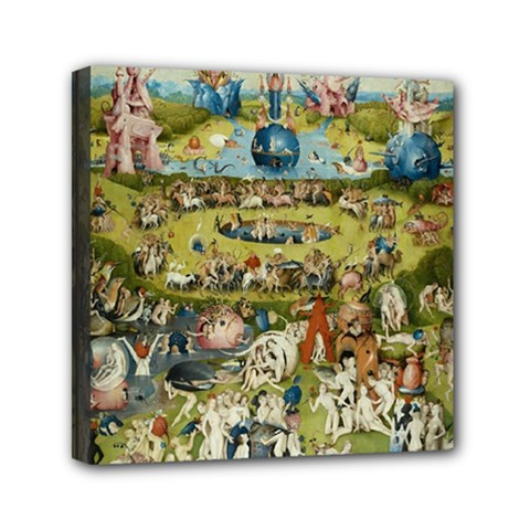 Hieronymus Bosch Garden Of Earthly Delights Mini Canvas 6  X 6  by MasterpiecesOfArt