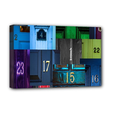 Door Number Pattern Deluxe Canvas 18  X 12   by Amaryn4rt