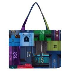 Door Number Pattern Medium Zipper Tote Bag by Amaryn4rt