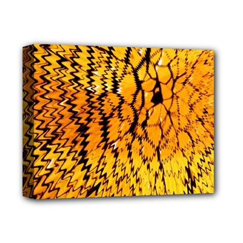 Yellow Chevron Zigzag Pattern Deluxe Canvas 14  X 11  by Amaryn4rt