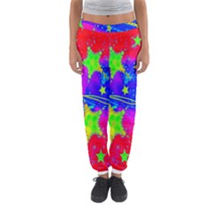 Red Background With A Stars Women s Jogger Sweatpants by Amaryn4rt