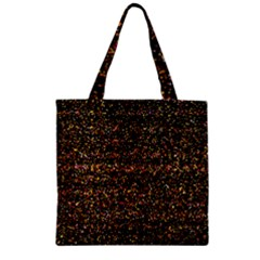 Colorful And Glowing Pixelated Pattern Zipper Grocery Tote Bag by Amaryn4rt