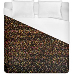 Colorful And Glowing Pixelated Pattern Duvet Cover (king Size) by Amaryn4rt