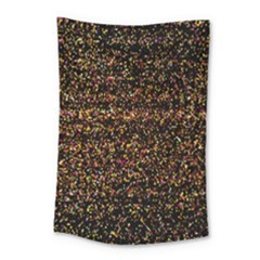 Colorful And Glowing Pixelated Pattern Small Tapestry by Amaryn4rt