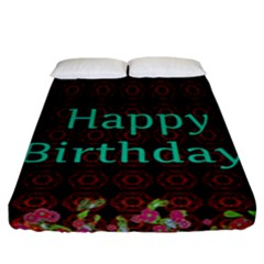 Happy Birthday To You! Fitted Sheet (california King Size) by Amaryn4rt
