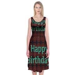 Happy Birthday To You! Midi Sleeveless Dress