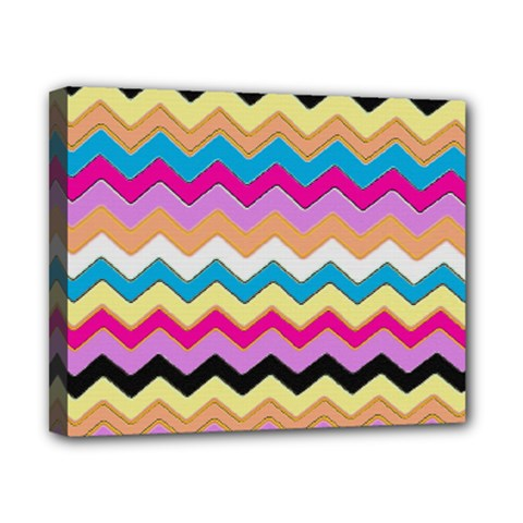 Chevrons Pattern Art Background Canvas 10  X 8  by Amaryn4rt