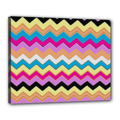 Chevrons Pattern Art Background Canvas 20  X 16  by Amaryn4rt
