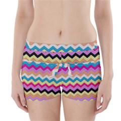 Chevrons Pattern Art Background Boyleg Bikini Wrap Bottoms