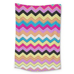 Chevrons Pattern Art Background Large Tapestry