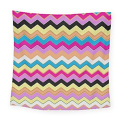 Chevrons Pattern Art Background Square Tapestry (large)