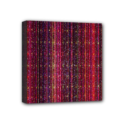 Colorful And Glowing Pixelated Pixel Pattern Mini Canvas 4  X 4  by Amaryn4rt
