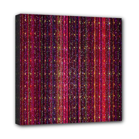 Colorful And Glowing Pixelated Pixel Pattern Mini Canvas 8  X 8  by Amaryn4rt