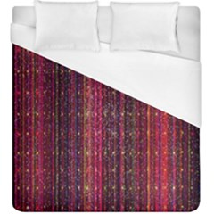 Colorful And Glowing Pixelated Pixel Pattern Duvet Cover (king Size) by Amaryn4rt